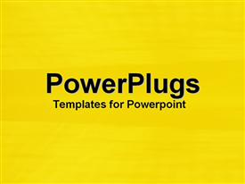PowerPoint template displaying a plain bright yellow coloredbackground surface tile