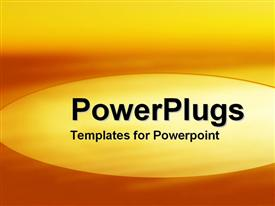 PowerPoint template displaying abstract depiction of different shades of an orange background