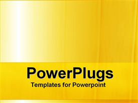 PowerPoint template displaying a plain simple bright yellow colored background with some lines