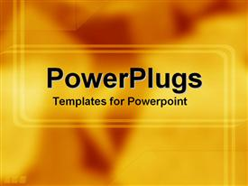 PowerPoint template displaying two stripes framing the middle text on yellow and orange background