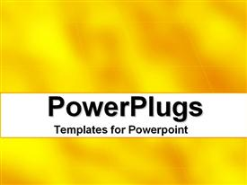 PowerPoint template displaying abstract depiction of a plain yellow and orange background
