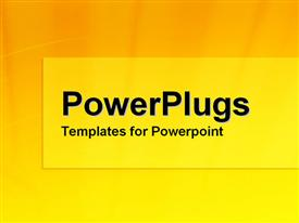 PowerPoint template displaying yellow and orange gradient in the background.