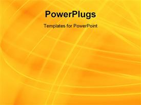 PowerPoint template displaying yellow wave