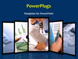 PowerPoint template displaying a short video showing different tiles of an office setting