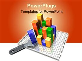 PowerPoint template displaying simple wrench turning/adjusting the elements in the background.