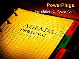 PowerPoint template displaying day planner