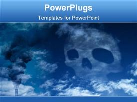 Skull in the sky, symbolizing all the co2, waste and poison powerpoint template