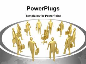 PowerPoint template displaying computer generated depiction - All For One Position in the background.