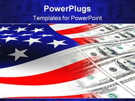 PowerPoint template displaying american flag