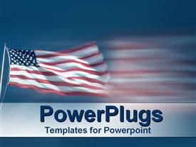 American flag flying proudly powerpoint theme