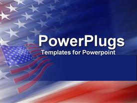 PowerPoint template displaying american flag united states god bless america