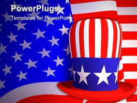 Symbol of the United States of America a hat of the uncle Sam powerpoint design layout