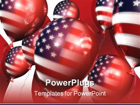 Patriotic balloons 3D presentation background