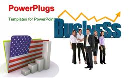 American business chart computer generated image powerpoint design layout