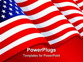 USA flag in white background powerpoint template