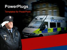 Police van panned template for powerpoint