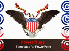 American bald eagle, united states seal. 3D render, illustration over white powerpoint theme