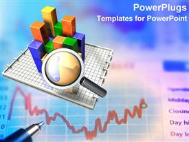 PowerPoint template displaying looking at charts and data for business income marketing