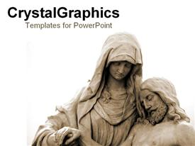 Statue of ancient pieta powerpoint design layout