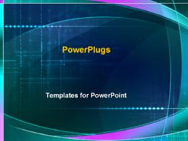 PowerPoint template displaying technology science high tech innovation computers internet abstract blue and purple