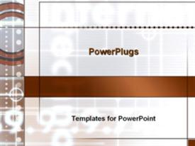 PowerPoint template displaying abstract glowing numbers