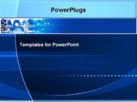PowerPoint template displaying technology modern geometric electricity blue background atoms molecules energy