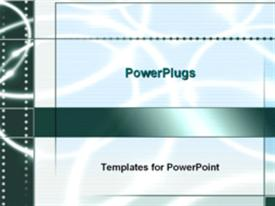 PowerPoint template displaying blue ripple design