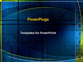 PowerPoint template displaying blue textured abstract