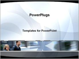 PowerPoint template displaying business symbol in the background.