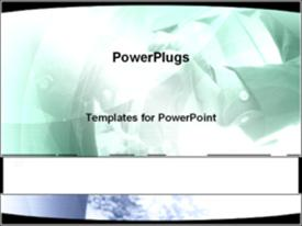 PowerPoint template displaying depiction of  a lot of people with two hands