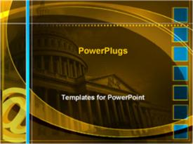 PowerPoint template displaying capitol building in Washington D.C