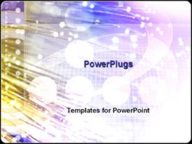 PowerPoint template displaying fiber optic strands in the background.