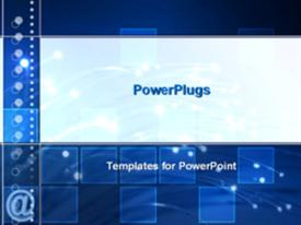 PowerPoint template displaying fiber optics lighted up in the background.