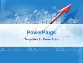 PowerPoint template displaying financial growth in the background.