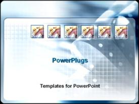 PowerPoint template displaying hands on keyboard in the background.