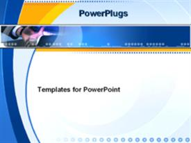 PowerPoint template displaying hands reaching out to shake in the background.