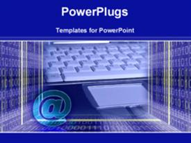 PowerPoint template displaying information technology