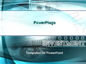 PowerPoint template displaying money currency investments cash credit debit change monetary means finances