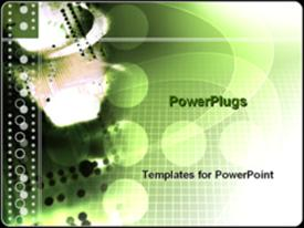 PowerPoint template displaying microchip