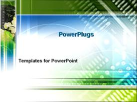 PowerPoint template displaying north America and a circuit board