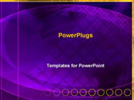 PowerPoint template displaying purple animated globe in the background.