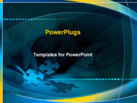 PowerPoint template displaying puzzle being put together in the background.