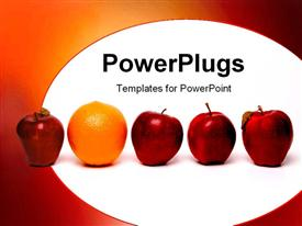 Apples and oranges powerpoint design layout