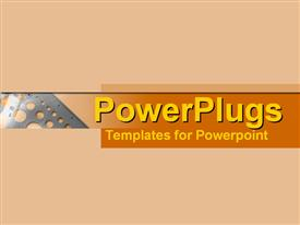 PowerPoint template displaying abstracted stencil in contrasting flesh tones