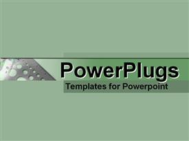 PowerPoint template displaying depiction of a plain off green tile and plain background