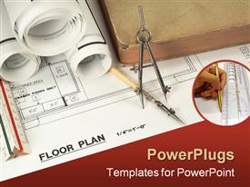 PowerPoint template displaying work in progress of floor plans