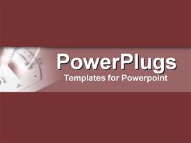PowerPoint template displaying drafting tools set in rich wine tones