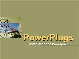 PowerPoint template displaying framework towers into the air