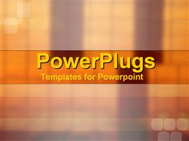 PowerPoint template displaying depiction of  a plain brown and gold background block