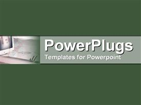 PowerPoint template displaying symbolic Computer Aided Design in rich dark greens